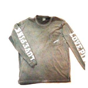 Long sleeve cotton t- shirt